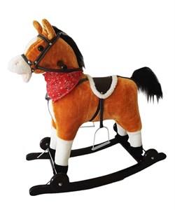Лошадка-качалка Amarobaby West Коричневая