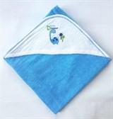 Махровое полотенце для малышей Uviton  Синее