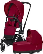 Cybex Priam III на раме Chrome with Black True Red