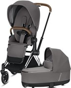 Cybex Priam III на раме Chrome with Brown Manhattan Grey