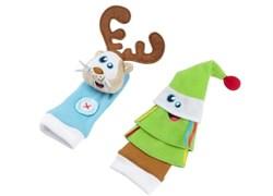 Игрушки носочки Олень и Елочка