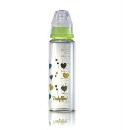 Бутылочка BabyOno стеклянная стандартная (240 мл.) - зеленая