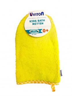 Рукавичка для купания Uviton Желтая