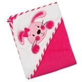 Полотенце для купания Baby Mix с уголком Малиновое