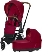 Cybex Priam III на раме Chrome with Brown True Red