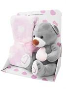 Подарочный набор Uviton Плед плюс Мишка розовый